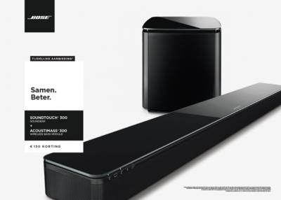 Bose Soundtouch 300 soundbar + Acoustimass 300 wireless bass module